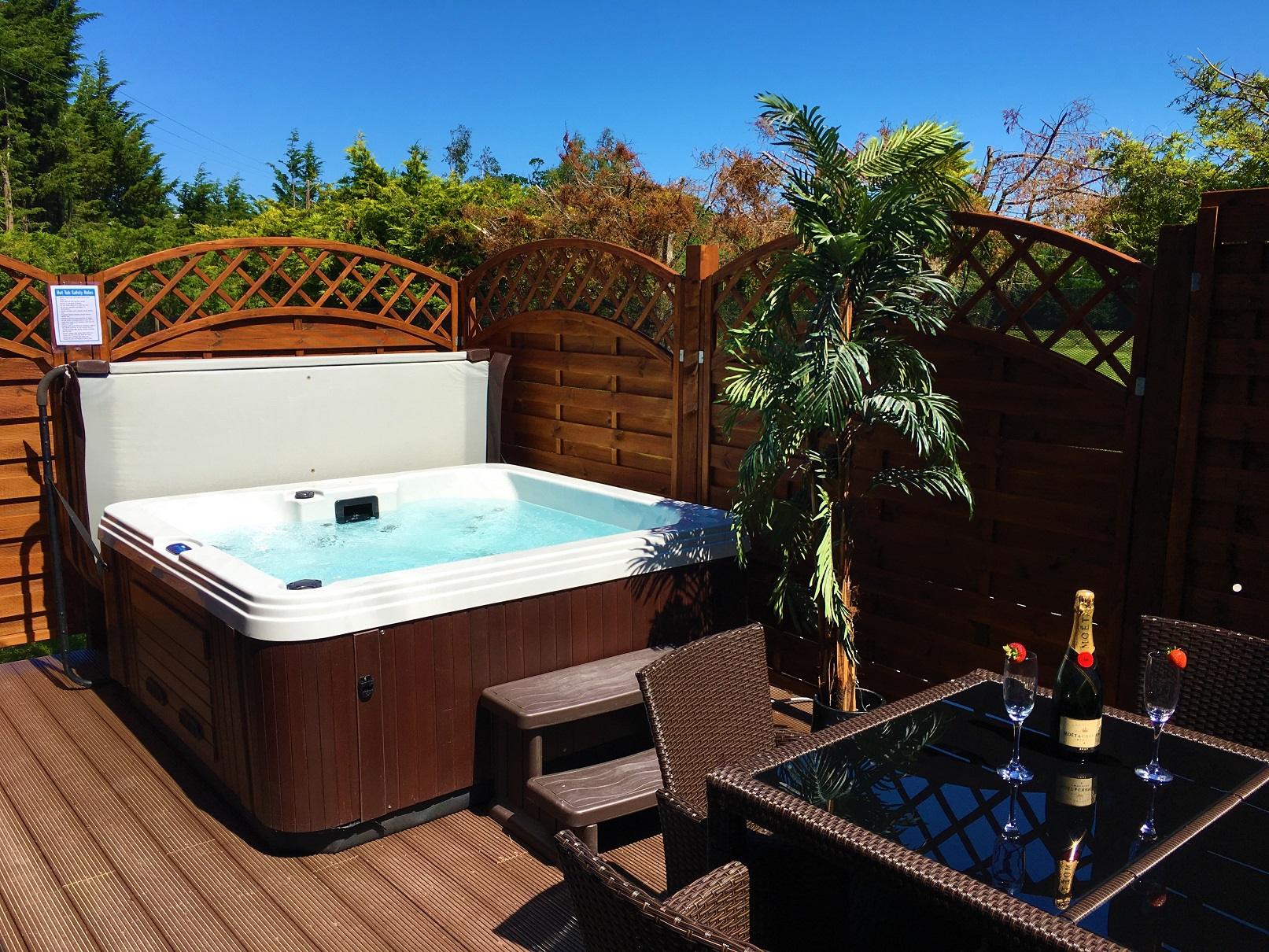 Log Cabins With Hot Tubs In North Wales Llannerch